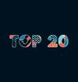 top 20 concept word art vector image vector image