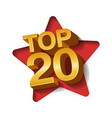 top twenty golden words vector image vector image