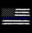 us police flag distreesed blue line