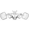 viking gym mascot grit line art vector image