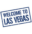 welcome to las vegas stamp vector image vector image