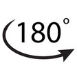 180 degrees icon on white background 180 degrees vector image