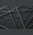 black background template with intersecting lines vector image