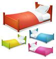 cartoon bed set vector image