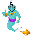 Genie granting the wish vector image