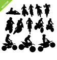 Motorcross silhouettes vector image