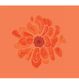 Artistic abstract flower vector image vector image