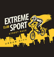 banner on theme extreme cycling vector image