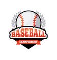 baseball sport design vector image vector image