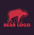 bear logo element vector image vector image