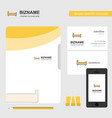 bed business logo file cover visiting card
