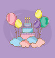 birthday party cartoons vector image vector image