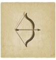 bow and arrow old background vector image vector image