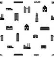 buildings and houses pattern eps10 vector image vector image