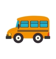 bus school transportation education yellow vector image
