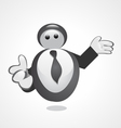business mascot vector image vector image