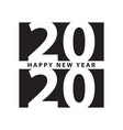 business style happy new year 2020 print modern vector image vector image