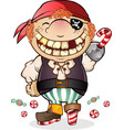 candy pirate cartoon character vector image vector image