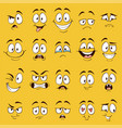 cartoon faces funny face expressions caricature vector image