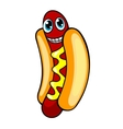 Cartoon hotdog vector image