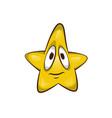 cartoon star character cute vector image vector image