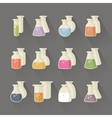 Chemical and science flask vector image vector image