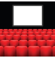 cinema screen and red seats vector image vector image