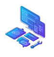 coding isometric color vector image