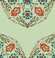Colorful round floral border corner background vector image vector image