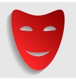 Comedy theatrical masks vector image vector image