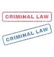 Criminal law textile stamps