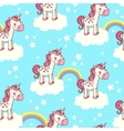 Cute seamless pattern with unicorn vector image vector image