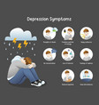 depression symptoms info-graphic concept vector image