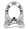 design element frame flourishes vintage vector image vector image