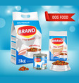 dog food brand ad realistic vector image