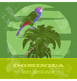 Dominica national symbols Sisseru parrot Imperial vector image vector image