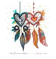 Dream catcher with love vector image vector image