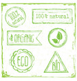 eco floral frame collection stamp vector image