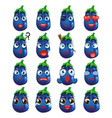 eggplant emoji emoticon expression vector image