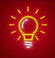 electric bulb with base shine vector image vector image