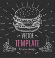 fast food menu design template hand drawn vector image vector image