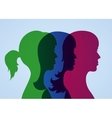 girlfriends silhouettes vector image