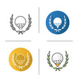 golf championship icon vector image
