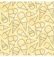 Grunge seamless pattern pattern with ice cream vector image vector image