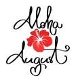 Handmade calligraphy and text aloha summer vector image vector image