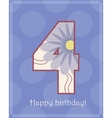 Happy birthday four card vector image