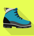 hiking boot icon flat style vector image vector image
