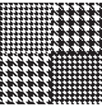 houndstooth patterns set vector image vector image