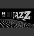 jazz music festival concert hall 3d vector image