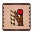 letter n candies chocolate vector image vector image